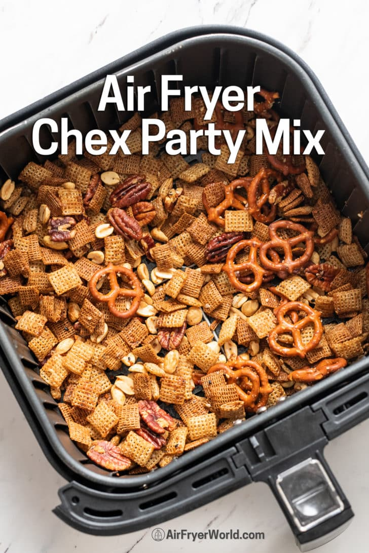 Air Fryer Chex Party Snack Mix - AirFryerWorld.com