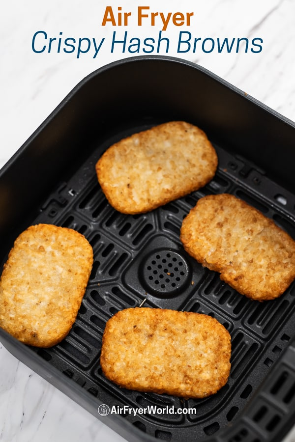 How to Air Fry Frozen Hash Brown Patties Crispy Easy | BestRecipeBox.com