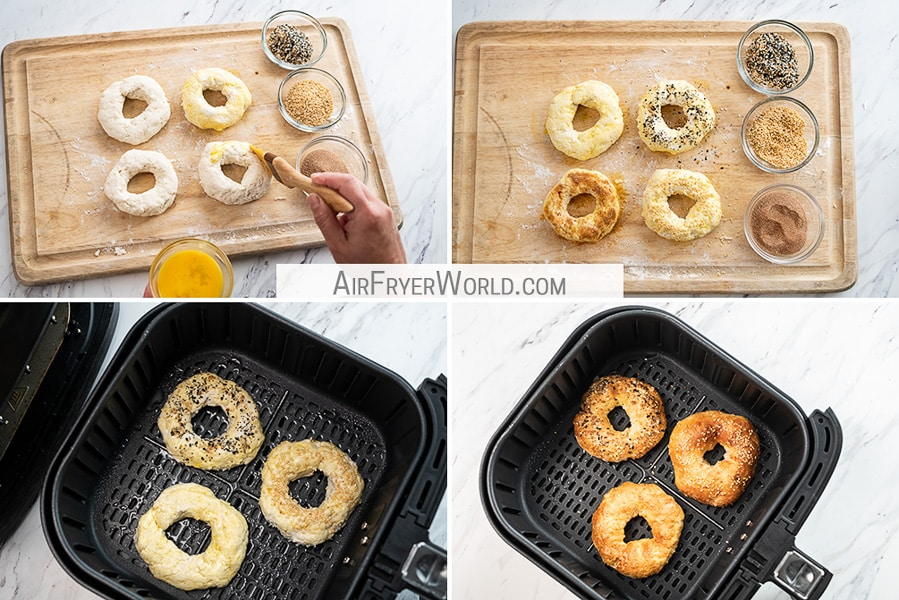 How to Cook Air Fried Bagels Recipe in Air Fryer | AirFryerWorld.com