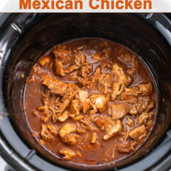Slow Cooker Mexican Chicken Recipe in the Crock Pot | BestRecipebox.com