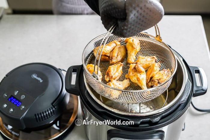 Mealthy Crisp Lid to Air Fry on Pressure Cooker | AirFryerWorld.com